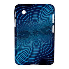 Blue Background Brush Particles Wave Samsung Galaxy Tab 2 (7 ) P3100 Hardshell Case  by Nexatart