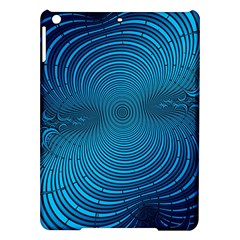 Blue Background Brush Particles Wave Ipad Air Hardshell Cases by Nexatart