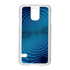 Blue Background Brush Particles Wave Samsung Galaxy S5 Case (white)