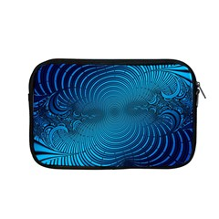 Blue Background Brush Particles Wave Apple Macbook Pro 13  Zipper Case