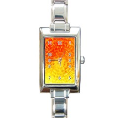 Abstract Explosion Blow Up Circle Rectangle Italian Charm Watch