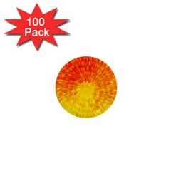 Abstract Explosion Blow Up Circle 1  Mini Buttons (100 Pack)