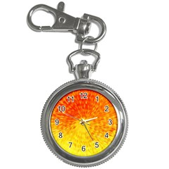 Abstract Explosion Blow Up Circle Key Chain Watches