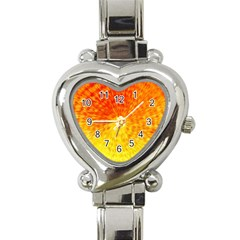 Abstract Explosion Blow Up Circle Heart Italian Charm Watch
