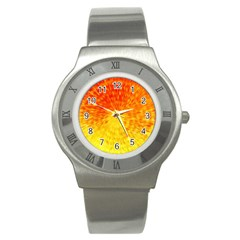 Abstract Explosion Blow Up Circle Stainless Steel Watch