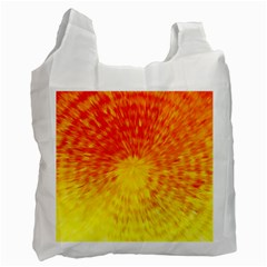 Abstract Explosion Blow Up Circle Recycle Bag (two Side)
