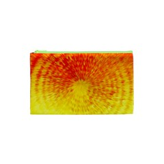 Abstract Explosion Blow Up Circle Cosmetic Bag (xs)