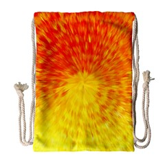 Abstract Explosion Blow Up Circle Drawstring Bag (large)