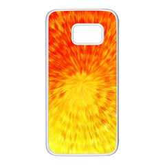 Abstract Explosion Blow Up Circle Samsung Galaxy S7 White Seamless Case