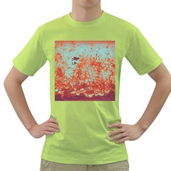 Orange Blue Rust Colorful Texture Green T Shirt by Nexatart