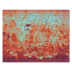 Orange Blue Rust Colorful Texture Rectangular Jigsaw Puzzl by Nexatart