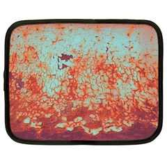 Orange Blue Rust Colorful Texture Netbook Case (large) by Nexatart