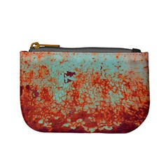 Orange Blue Rust Colorful Texture Mini Coin Purses