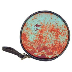 Orange Blue Rust Colorful Texture Classic 20 Cd Wallets by Nexatart