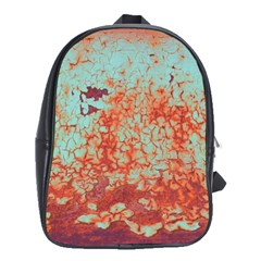 Orange Blue Rust Colorful Texture School Bag (large)