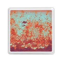 Orange Blue Rust Colorful Texture Memory Card Reader (square)