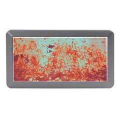 Orange Blue Rust Colorful Texture Memory Card Reader (mini) by Nexatart