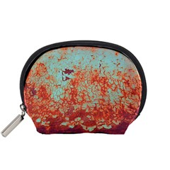 Orange Blue Rust Colorful Texture Accessory Pouches (small)  by Nexatart