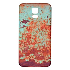 Orange Blue Rust Colorful Texture Samsung Galaxy S5 Back Case (white) by Nexatart
