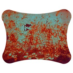 Orange Blue Rust Colorful Texture Jigsaw Puzzle Photo Stand (bow) by Nexatart