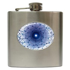 Network Social Abstract Hip Flask (6 Oz)