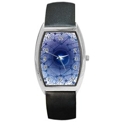 Network Social Abstract Barrel Style Metal Watch