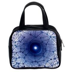 Network Social Abstract Classic Handbags (2 Sides)