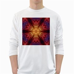 Fractal Abstract Artistic White Long Sleeve T Shirts