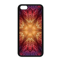 Fractal Abstract Artistic Apple Iphone 5c Seamless Case (black)