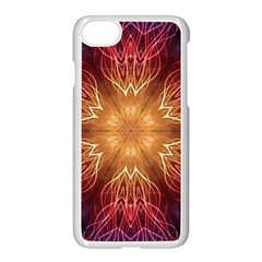Fractal Abstract Artistic Apple Iphone 8 Seamless Case (white)