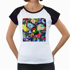 Color Abstract Background Textures Women s Cap Sleeve T