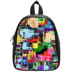 Color Abstract Background Textures School Bag (small)