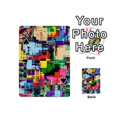Color Abstract Background Textures Playing Cards 54 (mini)