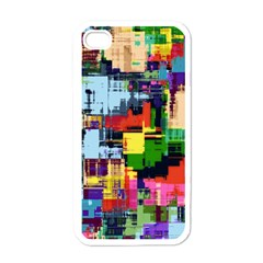 Color Abstract Background Textures Apple Iphone 4 Case (white)