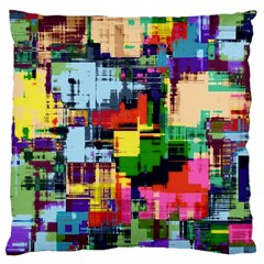 Color Abstract Background Textures Large Cushion Case (one Side)