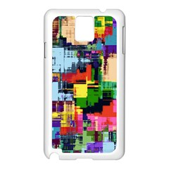 Color Abstract Background Textures Samsung Galaxy Note 3 N9005 Case (white)