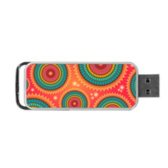 Background Texture Mosaic Pink Portable Usb Flash (two Sides)