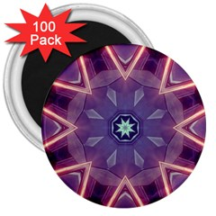 Abstract Glow Kaleidoscopic Light 3  Magnets (100 Pack)