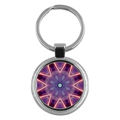 Abstract Glow Kaleidoscopic Light Key Chains (round)