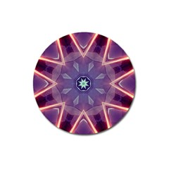 Abstract Glow Kaleidoscopic Light Magnet 3  (round)