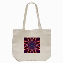 Abstract Glow Kaleidoscopic Light Tote Bag (cream)