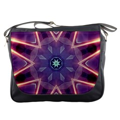 Abstract Glow Kaleidoscopic Light Messenger Bags
