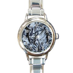 Pattern Abstract Desktop Fabric Round Italian Charm Watch