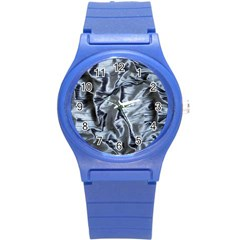 Pattern Abstract Desktop Fabric Round Plastic Sport Watch (s)
