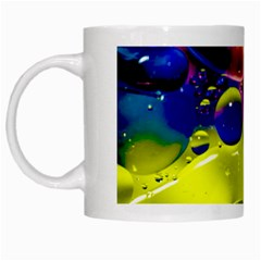 Abstract Bubbles Oil White Mugs