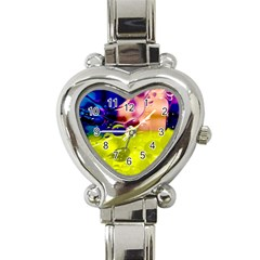 Abstract Bubbles Oil Heart Italian Charm Watch