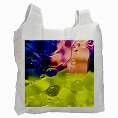 Abstract Bubbles Oil Recycle Bag (two Side)