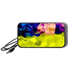 Abstract Bubbles Oil Portable Speaker