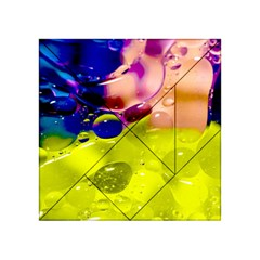 Abstract Bubbles Oil Acrylic Tangram Puzzle (4  X 4 ) by Nexatart