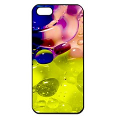 Abstract Bubbles Oil Apple Iphone 5 Seamless Case (black)